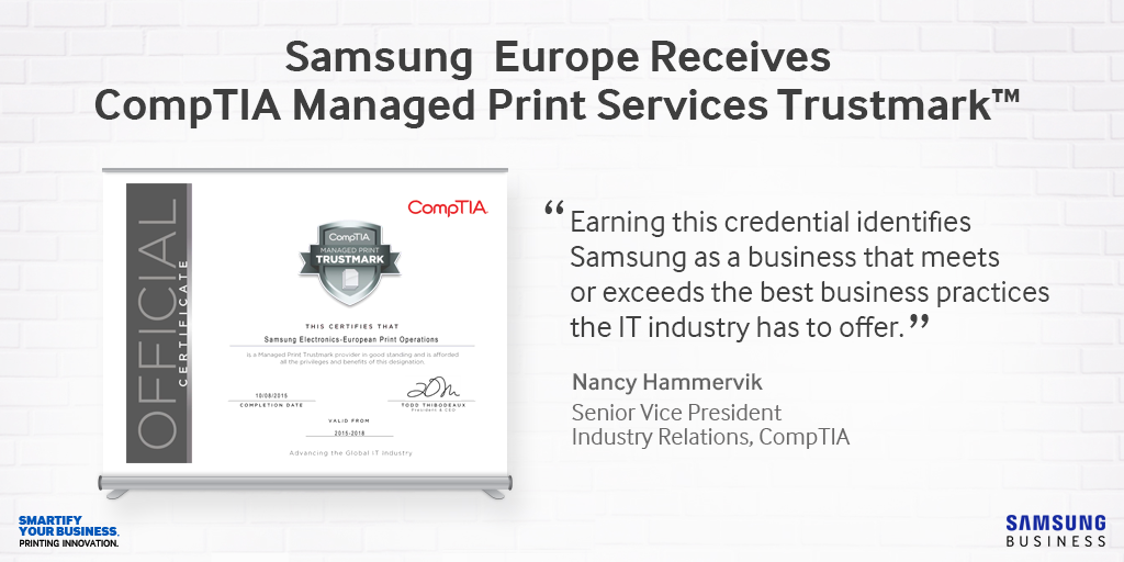 Samsung-Printing-Solutions-ComTIA-Managed-Print-Services-Trustmark